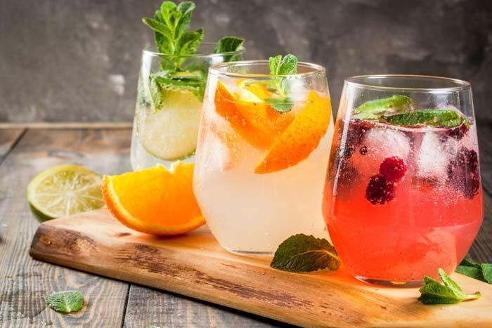 cocktails de fruta